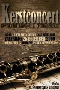 affiche kerstconcert 2009