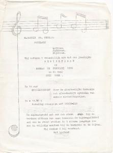 Uitnodiging Concert 1970