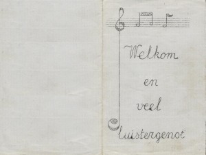 Programma concert 1970 voorkant