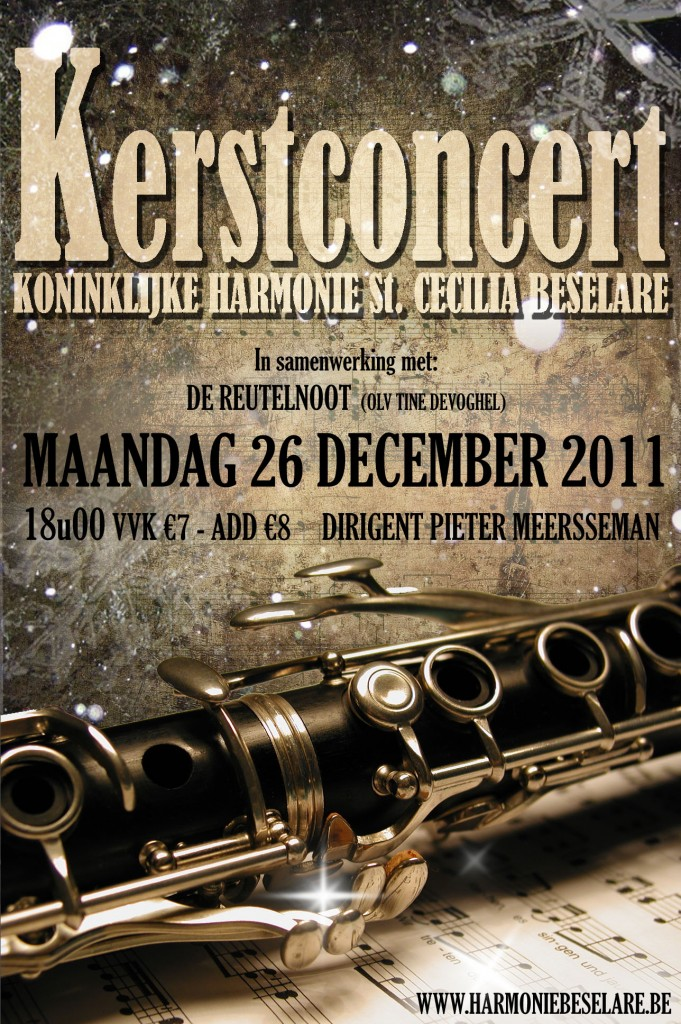 Kerstconcert 2011 - Affiche