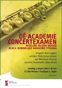 Concertexamen - affiche