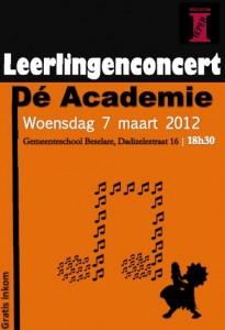 Leerlingenconcert 2012