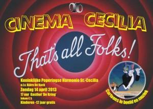 Concert 'Cinema Cecilia' - 14 april 2013