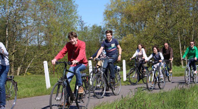 Zonnige fietstocht